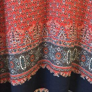 UK Glamorous Tunic Red Navy Dress Kate India Sz L